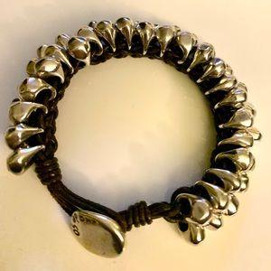 Uno De 50 dense silver Granada Bracelet